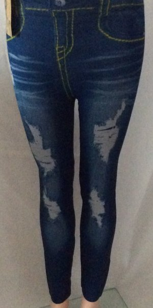 Jeggings steel blue-silver-colored