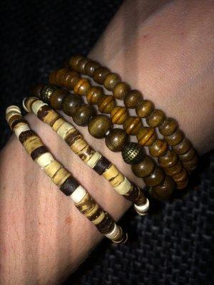 SIX Armbänder (5 Stück aus Holz)