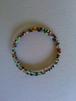 SIX Armband mit bunten Perlen