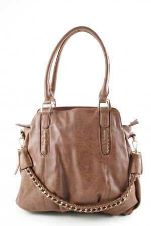 Six Henkeltasche braun Casual-Look