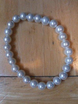 Six Perlenarmband weiß Permutt neu /