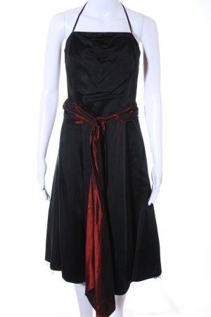 Sixth Sense A-Linien Kleid schwarz-bordeauxrot Retro-Look