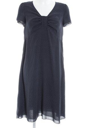Sixth Sense A-Linien Kleid weiß-dunkelblau Punktemuster Country-Look