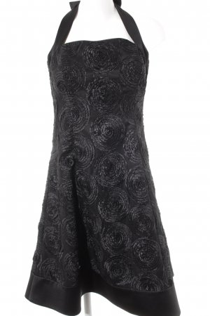 Sixth Sense Abendkleid schwarz abstraktes Muster Party-Look