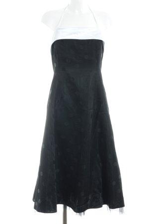 Sixth Sense Abendkleid schwarz-weiß Punktemuster Elegant