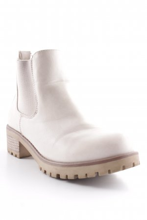 Sixth Sense Chelsea Boots pale yellow casual look