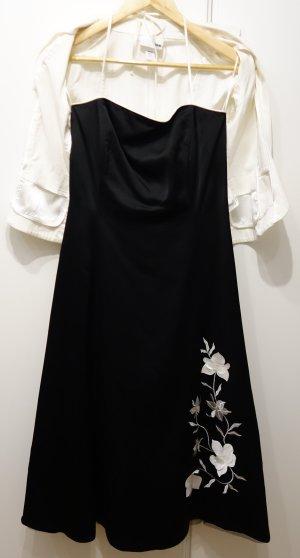 Sixth Sense Cocktailkleid Abendkleid Ballkleid schwarz weiß Gr. S/M (36/38)