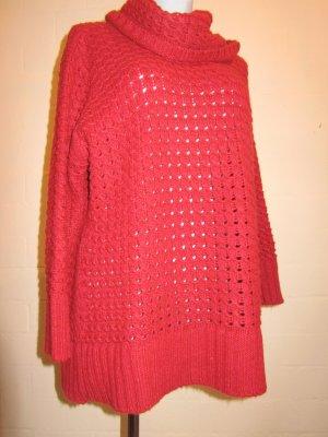 SIXTH SENSE: Kuschelpulli oversize in warmem Rot, Gr. XXL