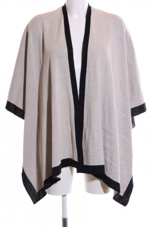 Sixth Sense Poncho light grey-black casual look