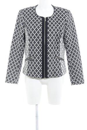 Sixth Sense Smoking-Blazer schwarz-weiß grafisches Muster Casual-Look