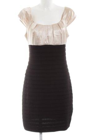 Sixth Sense Stretchkleid schwarz-creme Business-Look