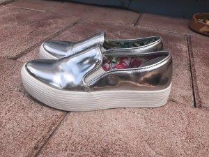 Sixty Seven Plateau Sneaker silber glänzend metallic