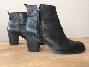Sixtyseven Ankle Boot Leder schwarz/ Glattleder Stiefelette mit Absatz und Lederbändern
