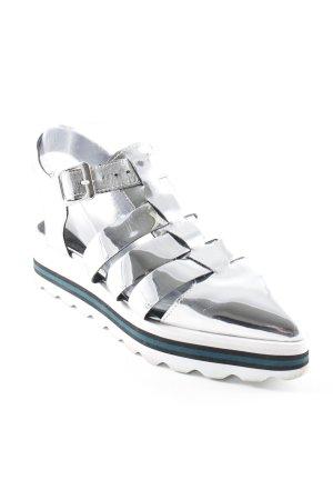 Sixtyseven Sandalias con plataforma color plata-blanco estilo extravagante