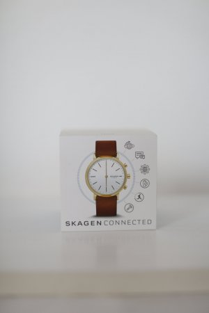 Skagen Connected Hybrid Watch Hald - Uhr Smartwatch Lederarmband Neu!