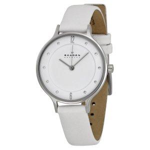 Skagen Damen-Armbanduhr Analog Quarz Leder SKW2145