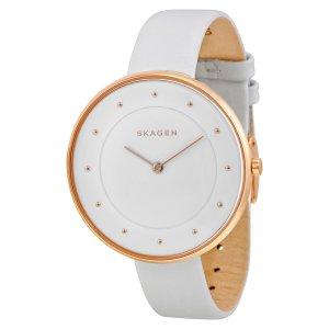 Skagen Damen-Armbanduhr Analog Quarz Leder SKW2291