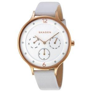 Skagen Damen-Armbanduhr Analog Quarz Leder SKW2311
