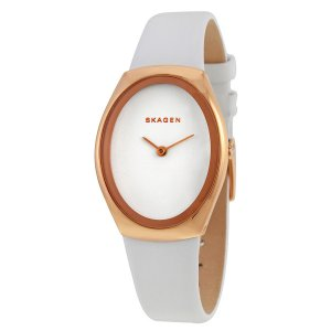 Skagen Damen-Armbanduhr Leder weiss SKW2296