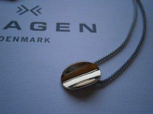 Skagen Edelstahl Halskette mit Anhänger gold silber