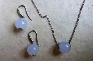SKAGEN Ohrhänger und Kette aus der Serie LADIES SEA GLASS SOFIE