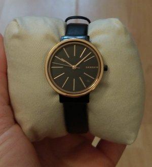 Skagen skw2480 neu Damenuhr Armbanduhr leder schwarz rosė