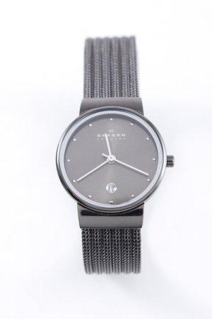 Skagen Watch With Metal Strap black elegant