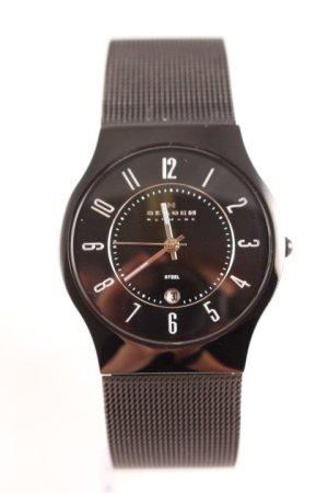 Skagen Reloj con pulsera metálica negro-color plata look casual