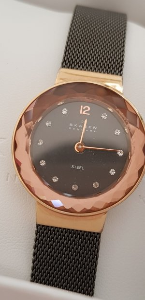 skagen Uhr rosegold mit Steinchen Festlich Weihnachten Geschenk