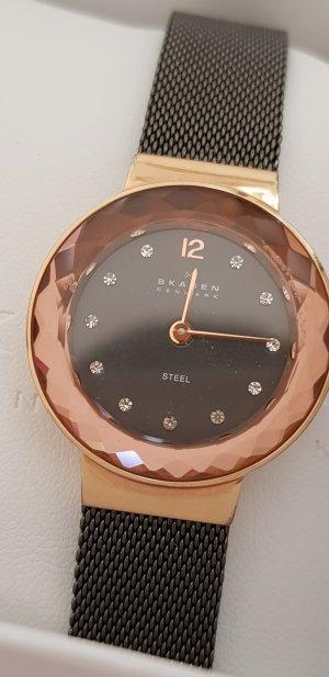 skagen Uhr rosegold mit Steinchen Festlich Weihnachten Geschenk everrose Weihnachtsgeschenk