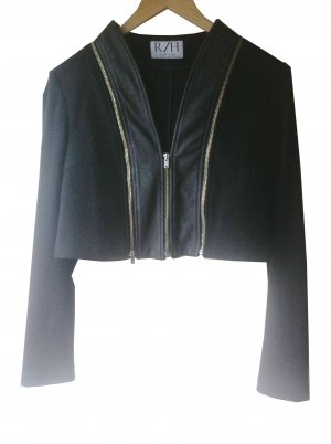 Giacca di lana nero-argento Lana