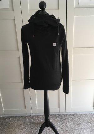 Jersey con capucha negro Algodón