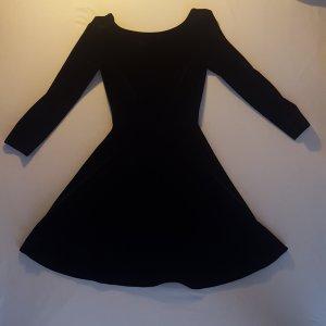 Skater-Kleid aus Samt mit tiefem Rückenausschnitt in S von American Apparel