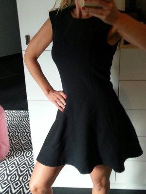Skater Kleid ausgestellt Volant back zip Rücken Reißverschluss zara mango h&m S M 38
