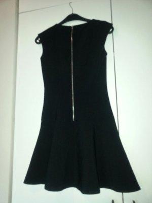 Skater Kleid ausgestellt Volant back zip Rücken Reißverschluss zara mango h&m S 36