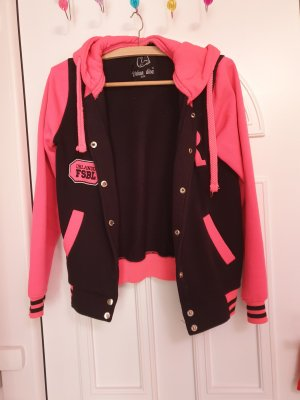 Shirt Jacket black-neon pink