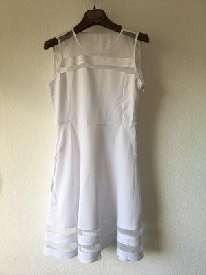 Skaterkleid ausgestelltes Kleid weiß S