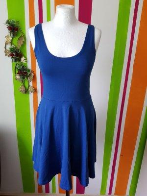 Skaterkleid Minikleid Kleid Gr. M (36/38) Vila blau Sommerkleid Jerseykleid Neu