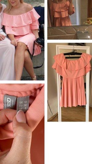 Asos Vestido strapless salmón-rosa neón