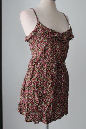 Skaterkleid Sommerkleid Minikleid Kleid Sommer kurz 100%Viskose Blümchen Gr. XS 34 H&M
