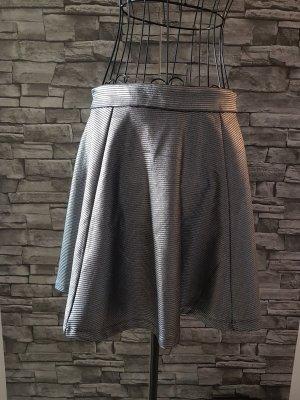 Fishbone Skater Skirt black-silver-colored