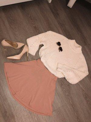 Bershka Skater Skirt dusky pink