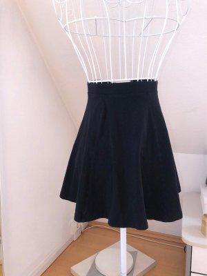 H&M Falda asimétrica negro