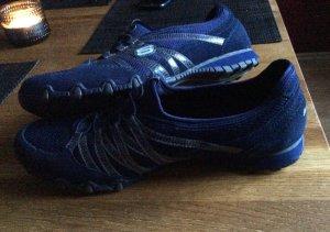 Skechers Zapatillas con tacón azul oscuro Gamuza