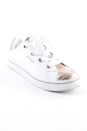 Skechers Schnürsneaker weiß-roségoldfarben sportlicher Stil