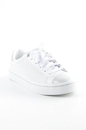 Skechers Schnürsneaker weiß-silberfarben Punktemuster Casual-Look