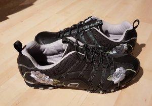 Skechers Sneakers - schwarz mit Blumen - 41
