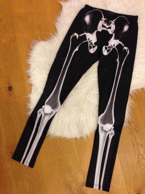 Skelett Leggings glänzend