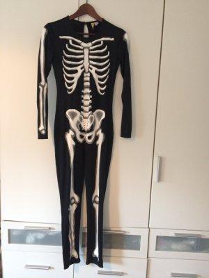 Skelett Overall Onesie