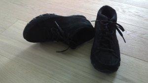 Sketchers Lace Shoes black suede